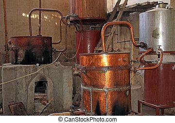Old Singani distillery in Camargo Bolivia, the distillery...