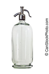 Old siphon-bottle - Old siphon bottle isolated on white...