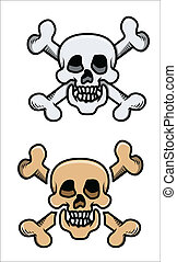 Old Skulls - Vector Cartoons