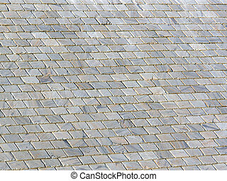 slate roof image withdeep shadows between the tiles