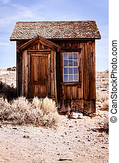 Old small building in Bodie ghost town