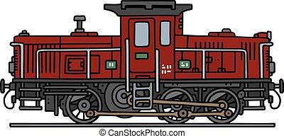 Old small diesel locomotive