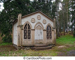 Old small wooden church