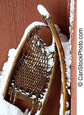 old snowshoe for walking on snow
