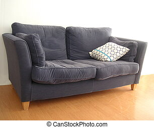 old sofa in a modern apartment