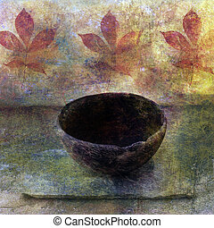Old Soul - Empty ancient bowl in a still life setting.
