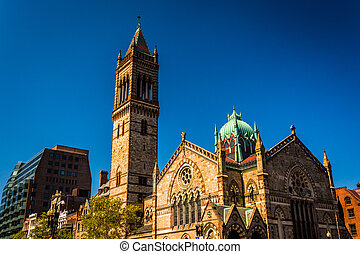 Old South Church, at Copley Square in Boston, Massachusetts....