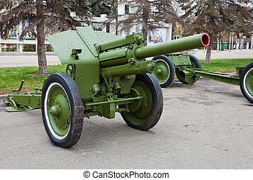Old soviet field gun