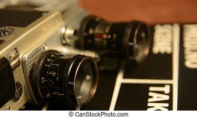 Old Soviet film camera retro lies - The old Soviet film...