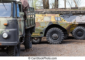 Old soviet military ussr vehicles