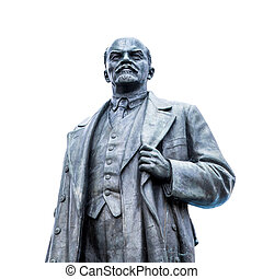 Old soviet sculpture of Vladimir Lenin, famous Russian ...