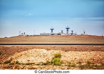"""Old space communication and command station """"Saturn"""". Baikonur, Kazakhstan"""