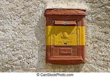 Old spanish mailbox