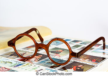 Old spectacles - Typical shape of old glasses.