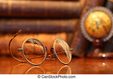 Old Spectacles - Vintage still life with old spectacles...