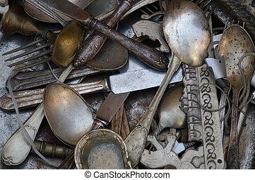 Old spoons, forks, knifes