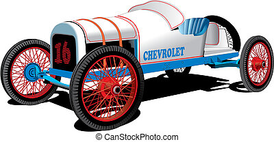 Old Sport Car - Detailed vectorial image of old sport car...