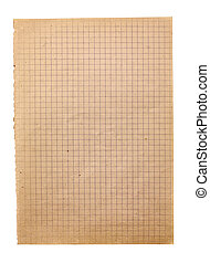 Old squared paper