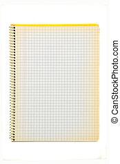 Old squared spiral notebook. - Old squared spiral notebook ...