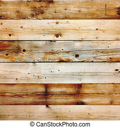 Old stained pine wood background square format