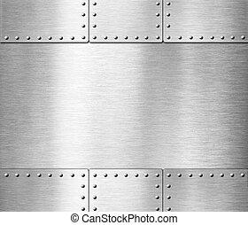 old stainless steel armor metallic background 3d illustration
