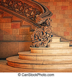 Old  staircase in Spain