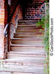 Old staircase, nature