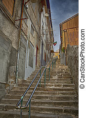 Old Stairs in Porto City of Portugal