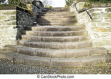 Old stairs of stone