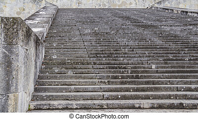 old stairway scenery - stairway at the Walhalla memorial...
