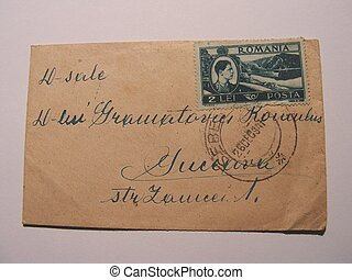 old stamp and corespondence - old stamp with corespondence