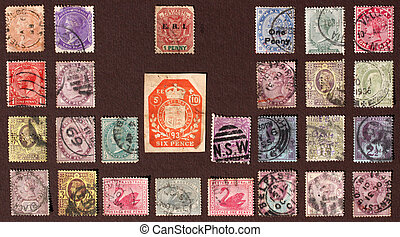 Old stamps - Vintage  Stamps  Collection
