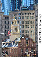 Old State House in the City of Boston in Massachusetts