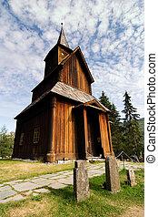 Old Stave Church - A stavechurch - stavkirke - in Norway...