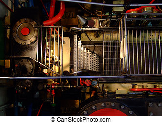 Old steam boat engine