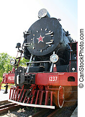 Old steam locomotive - Front of the old steam locomotive