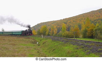 Old Steam Moves - Old Steam Locomotive Moves on Rails...