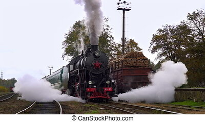 Old Steam Starts to Move from the Station