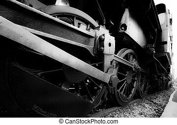 old steam train detail