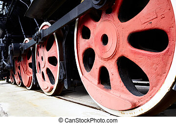 Old Steam Train Wheels