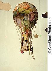 Old steampunk air balloon - Strange steampunk balloon which ...