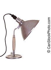 old steel desk lamp