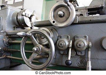 Old steel lathe