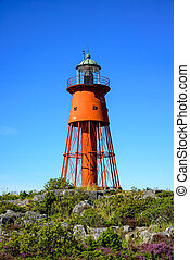 Old steel lighthouse