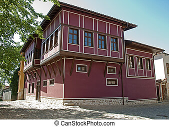 Old stile house. Traditional bulgarias old time house....