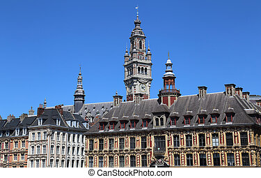 Old Stock Exchange building in Lille, France - Old Stock ...