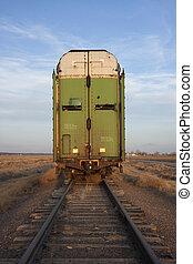 old stock rail car for livestock transportation - old tall...