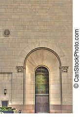 arched doorway - old stone arched doorway