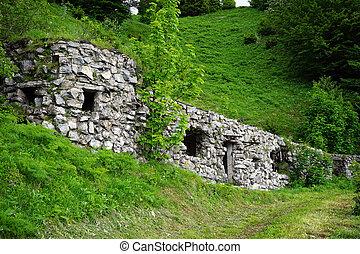 Old stone barrack