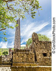 Old Stone Block Building in Tropics